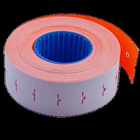 Цінник 22*12мм (1000шт, 12м), прямокутний, внутрішня намотування, помаранчевий