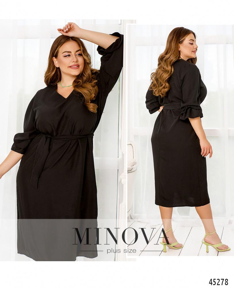 Елегантне чорне літнє плаття великого розміру. Розмір: 48-50, 52-54, 56-58