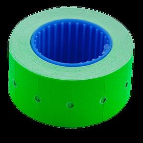 Цінник 22*12мм (500шт, 6м), прямокутний, зовнішня намотування, зелений