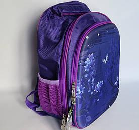Шкільний рюкзак для дівчинки, з ортопедичною спинкою, Квіти