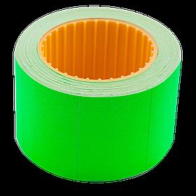 Цінник 35*25мм (240шт, 6м), прямокутний, зовнішня намотування, зелений
