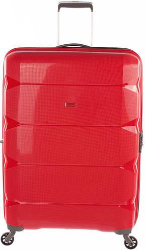 Стильный женский 4-х колесный чемодан 100 л. Puccini РР-007, 8024/3 красный