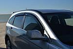 Honda CRV (2007-2011) Ветровики с хром молдингом (4 шт, HIC)