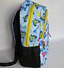 Школьный рюкзак с ортопедической спинкой, 4 отделения, Бабочки, фото 2