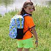 Школьный рюкзак с ортопедической спинкой, 4 отделения, Бабочки, фото 8