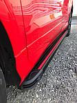 Nissan Patrol Y61 1997-2011 рр .. Бічні пороги Maya Red (2 шт., алюміній)