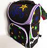 Каркасный рюкзак-короб с ортопедической спинкой для девочки, Звезды, фото 2