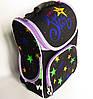 Каркасный рюкзак-короб с ортопедической спинкой для девочки, Звезды, фото 3