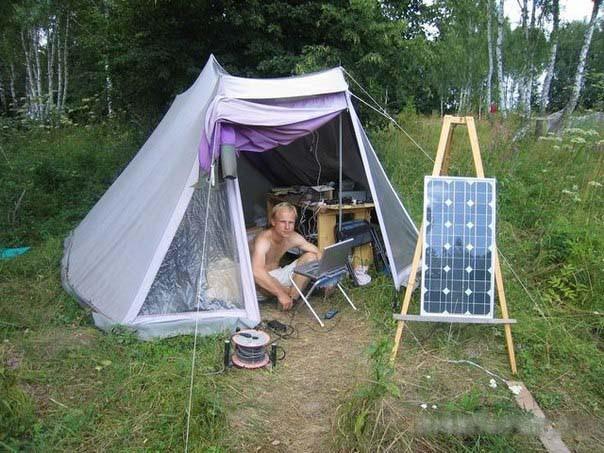 Солнечное зарядное устройство в палатку 50 Вт
