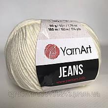 YarnArt Jeans (ярнарт джинс) 03 Молочный