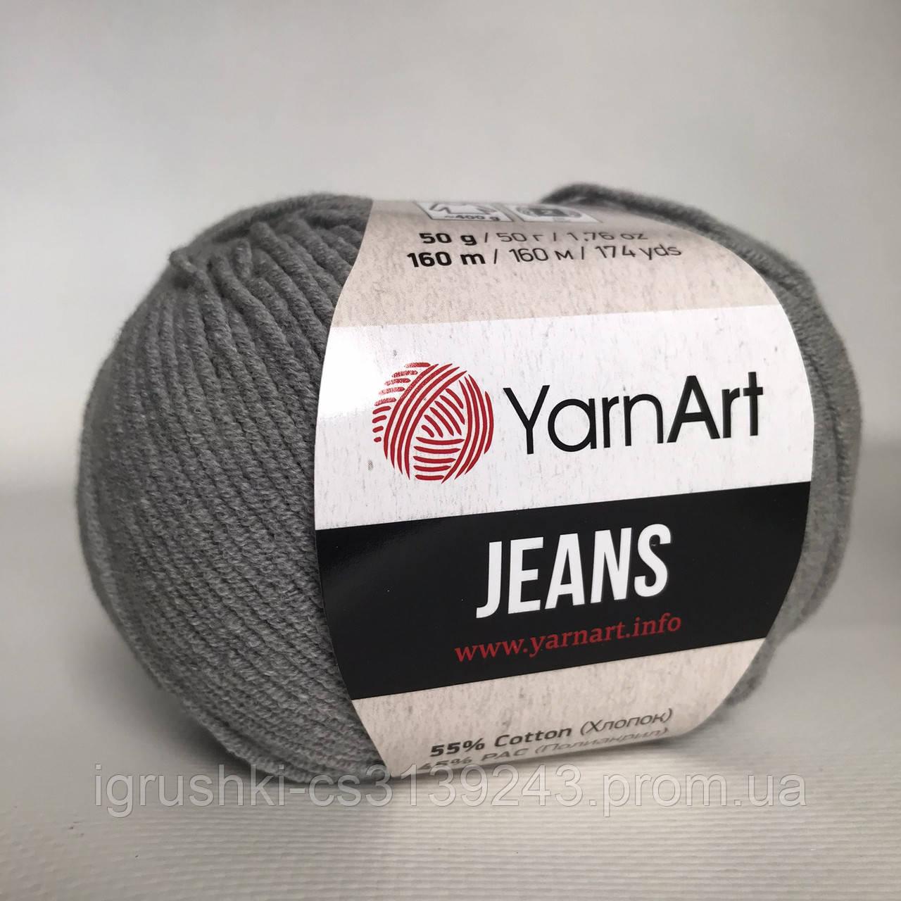 YarnArt Jeans (ярнарт джинс) 46 Серый