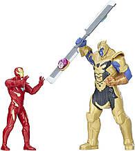 Набір фігурок Hasbro, 2в1, Залізна Людина проти Таноса (світло\звук) 15 см - Avengers Thanos vs Iron Man
