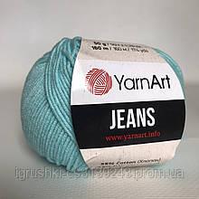 YarnArt Jeans (ярнарт джинс) 76 Светло-бирюзовый