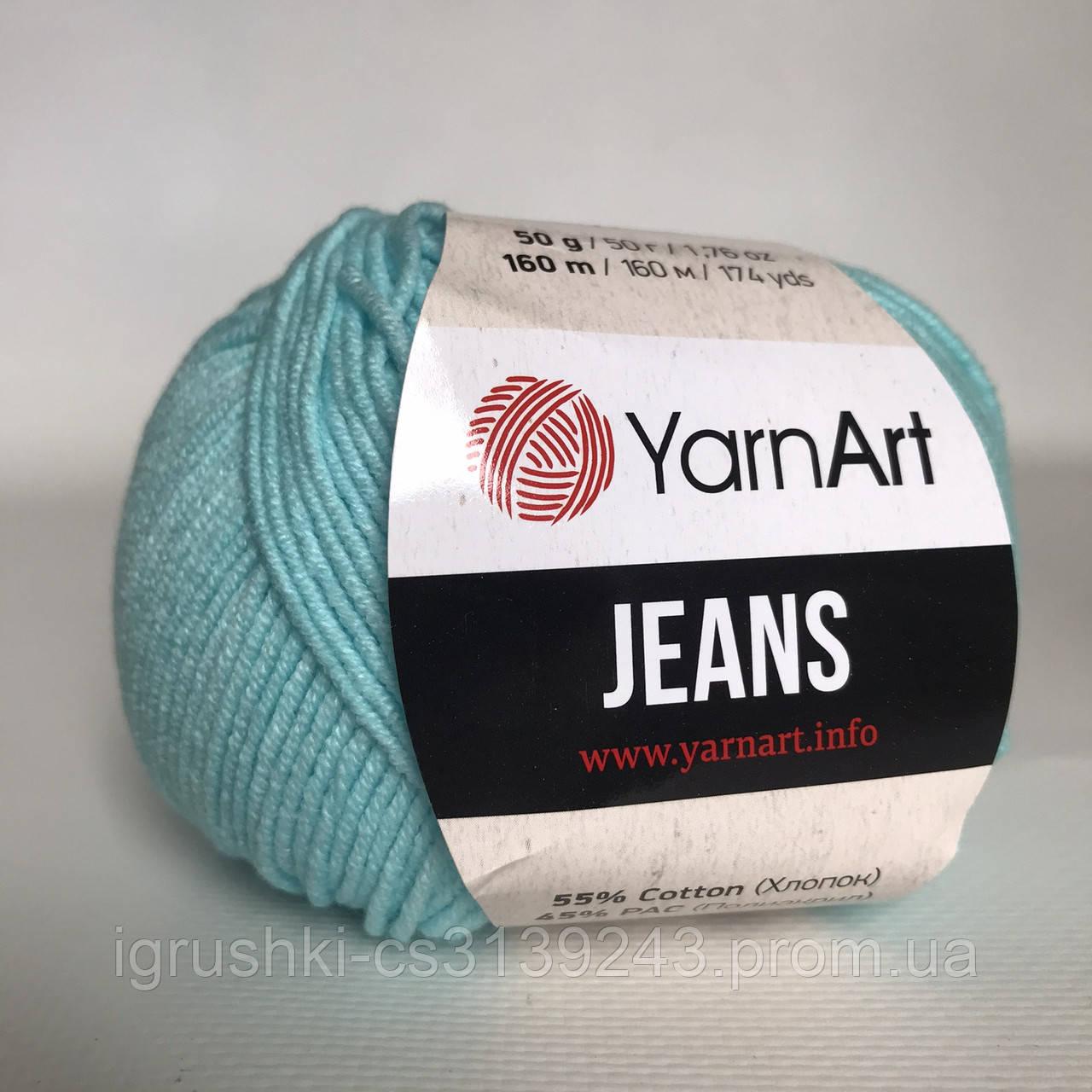 YarnArt Jeans (ярнарт джинс) 76 Світло-бірюзовий