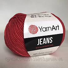 YarnArt Jeans (ярнарт джинс) 26 Красный
