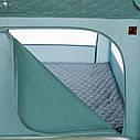 Дитячий манеж темно-сірий Carrello Cubo причіпні кільця сумка матрацик дверцята на блискавці народження до 3-х, фото 3