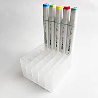 Подставка для маркеров органайзер для канцелярских принадлежностей 48 ячеек