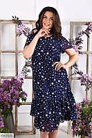Летний шифоновое платье свободного кроя р-ры 50-60 арт.  192, фото 1