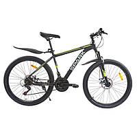 Велосипед с бесплатной доставкой SPARK ROVER 26-AL-17-AM-D (Черный с желтым)