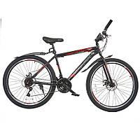 Велосипед с бесплатной доставкой SPARK FORESTER 26-ST-17-ZV-D (Черный с красным)