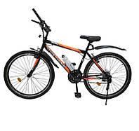 Велосипед с бесплатной доставкой SPARK RIDE ROMB V.21 26-ST-18-ZV-V (Черный с оранжевым)