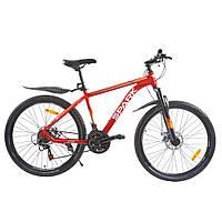 Велосипед с бесплатной доставкой SPARK ROVER 26-AL-17-AM-D (Красный с оранжевым)