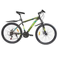 Велосипед с бесплатной доставкой SPARK TRACKER 26-AL-18-AM-D (Черный с зеленым)