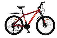 Велосипед с бесплатной доставкой SPARK TRACKER 26-AL-18-AM-D (Красный с оранжевым)