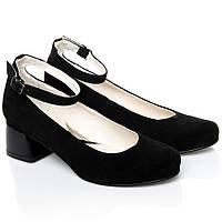 Туфли La Rose 2247 37(24,2 см) Черная замша