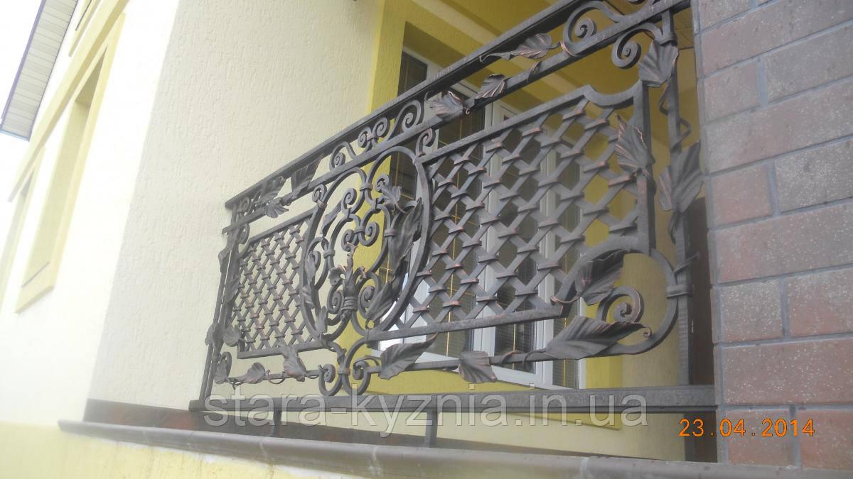 Красивый кованый балкон - Старая кузня в Полтавской области