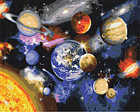 Картина рисование по номерам Парад планет BS22268 40х50см роспись по цифрам набор для рисования, холст,