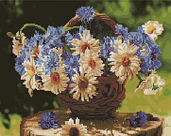 Алмазна мозаїка і картина за номерами Brushme Польові квіти в кошику BGZS1086 40х50см в коробці алмазна