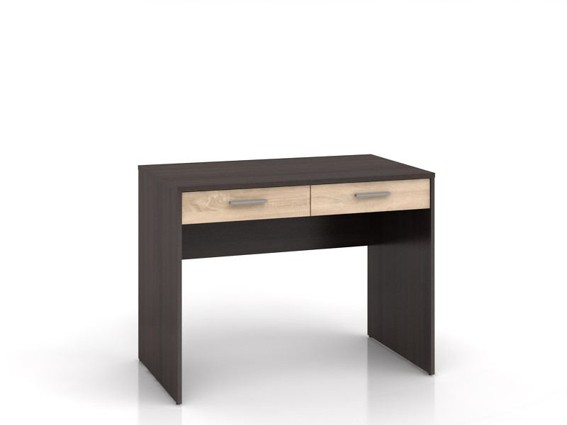 Стол письменный деревянный BIU2S Nepo BRW венге/дуб сонома