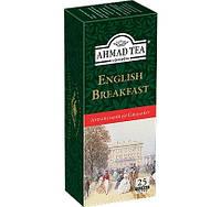 Чай в пакетиках Черный Английский к завтраку Ahmad 25 пак