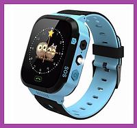 Детские умные смарт часы с GPS трекером и SIM-картой та сенсорным экраном KIDS SMART WATCH with GPS, Синие