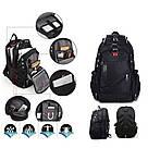 Міський рюкзак WENGER SwissGear 8810 чорний, репліка, фото 2