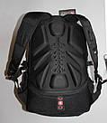 Міський рюкзак WENGER SwissGear 8810 чорний, репліка, фото 7