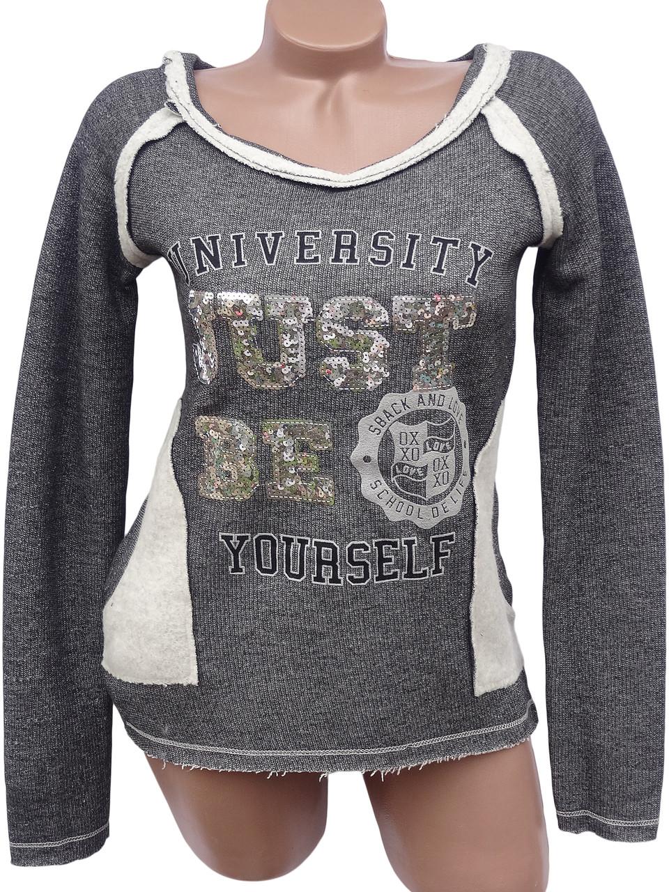 Женский пуловер с пайетками (в расцветках 44-46)