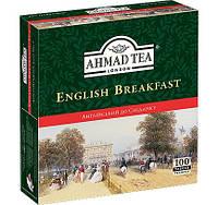 Чай  в пакетиках Черный Английский к завтраку Ахмад 100 пак