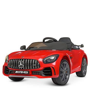 Детский электромобиль Bambi Racer M 4182EBLR-3 Красный мерседес 2 мотора музыка свет сиденье экокожа