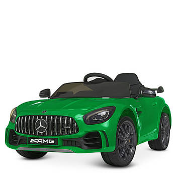 Детский электромобиль Bambi Racer M 4182EBLR-5 Зеленый мерседес 2 мотора музыка свет сиденье экокожа