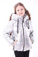 Куртка демісезонна для дівчинки «362», срібло