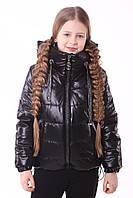 Куртка демісезонна для дівчинки «362», чорний