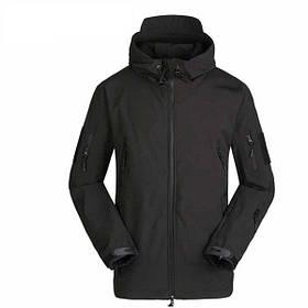 Тактична куртка Soft Shell ESDY A001 L чоловіча волого-вітрозахисна Чорна КОД: 4255-12465