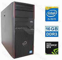 Fujitsu P710 - Intel Core i5-3570/ 16GB DDR3/ GeForce GTX750Ti 2GB/ 500GB HDD Системный блок, Компьютер, ПК