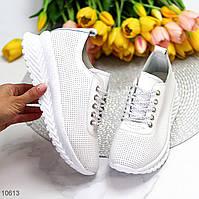 Женские кроссовки белого цвета/ женские кеды белого цвета