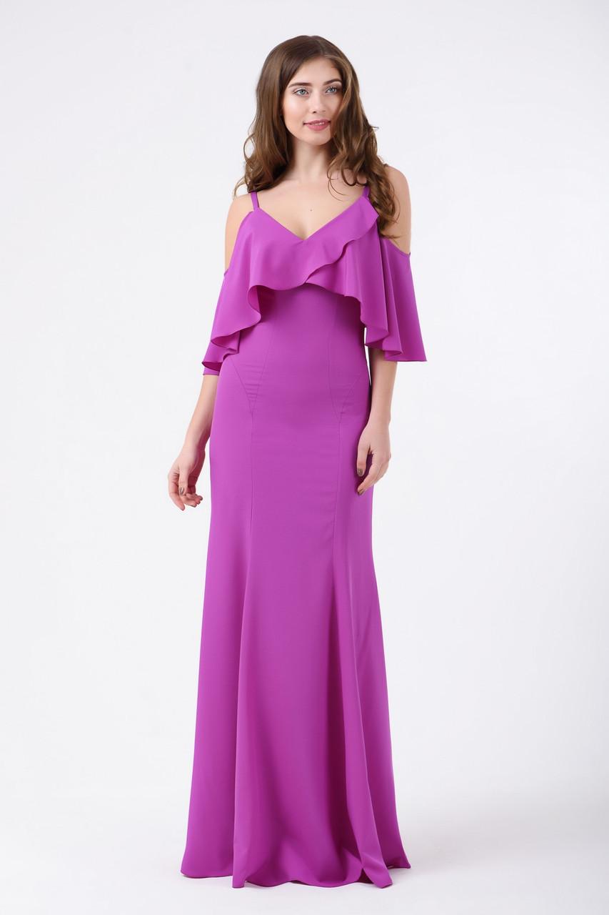 Платье женское вечернее фиолетовое RicaMare MKRM1812-18VP