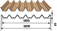Профилированный лист оц., полиэстр 44 Ral (0,4-0,7)