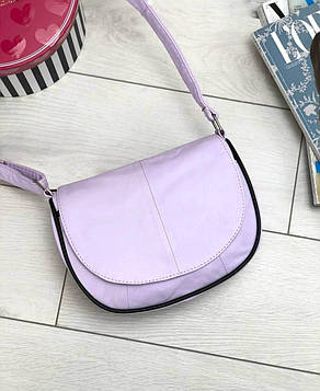 Женская сиреневая сумка натуральная кожа код 22-114