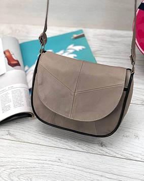 Женская бежевая сумка натуральная кожа код 22-117